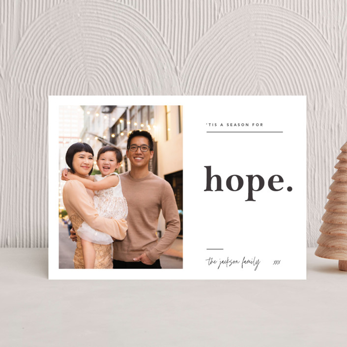 """""""'tis a season for Hope"""" - Holiday Petite Cards in Charcoal by Blustery August."""