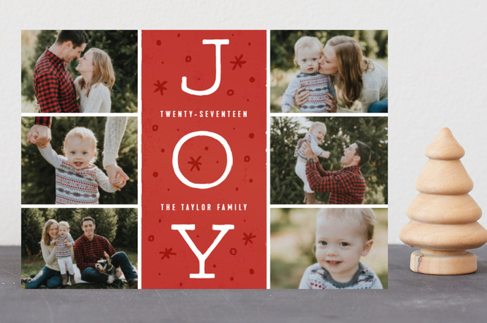 """""""Season of Joy"""" - Vintage Holiday Petite Cards in Cranberry by Michelle Taylor."""