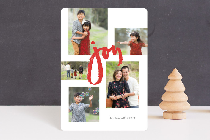 """Multitude of Joy"" - Holiday Petite Cards in Holly Berry by Jennifer Wick."