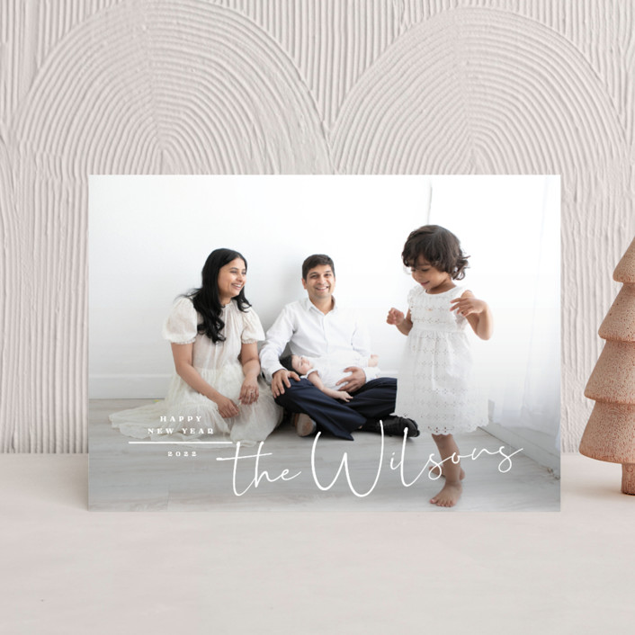 """""""Merry Minimal"""" - Holiday Petite Cards in Snow by Owl and Toad."""