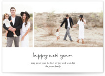 This is a black petite holiday card by Heather Cairl called Simple Wishes with standard printing on signature in petite.