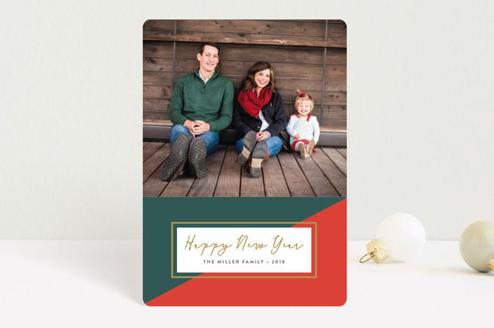 """Colorblock"" - Holiday Petite Cards in Poinsettia by Erica Krystek."