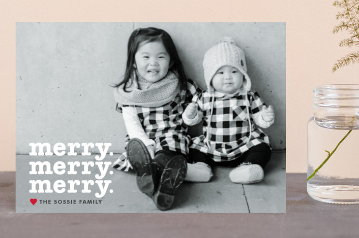 """Merry Times 3"" - Holiday Petite Cards in Snowflake by Abby Munn."