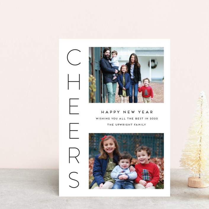 """Cheerful"" - Holiday Petite Cards in Onyx by Kaydi Bishop."