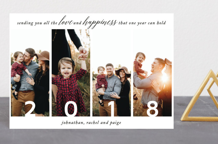 """Love and Happiness All Year"" - Holiday Petite Cards in Ebony by Ashlee Townsend."