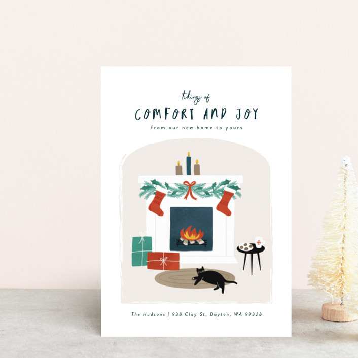 """Cool Cat"" - Holiday Petite Cards in Ornaments by Jana Volfova."