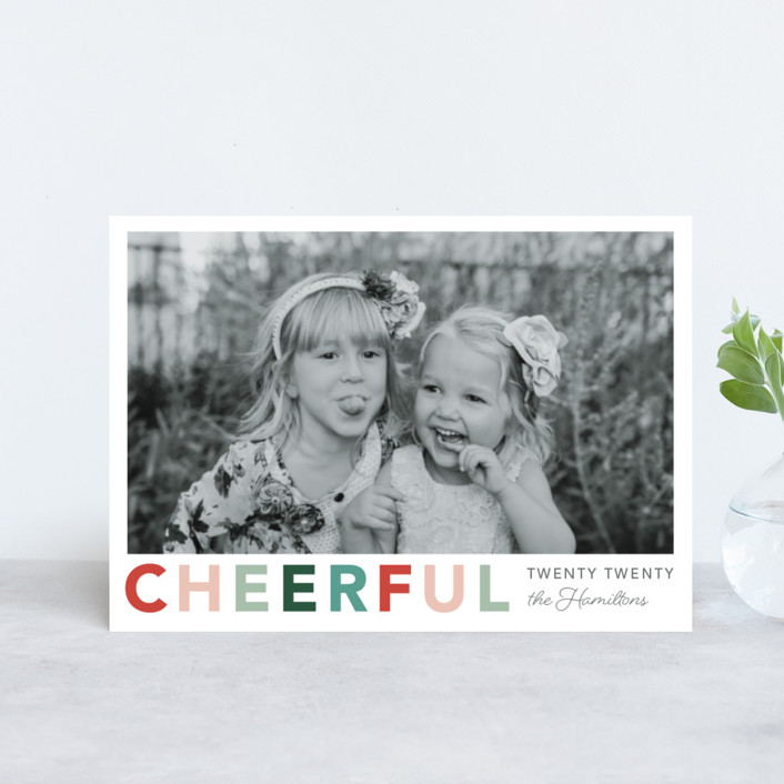 """""""Cheerful"""" - Holiday Petite Cards in Jolly by Hudson Meet Rose."""
