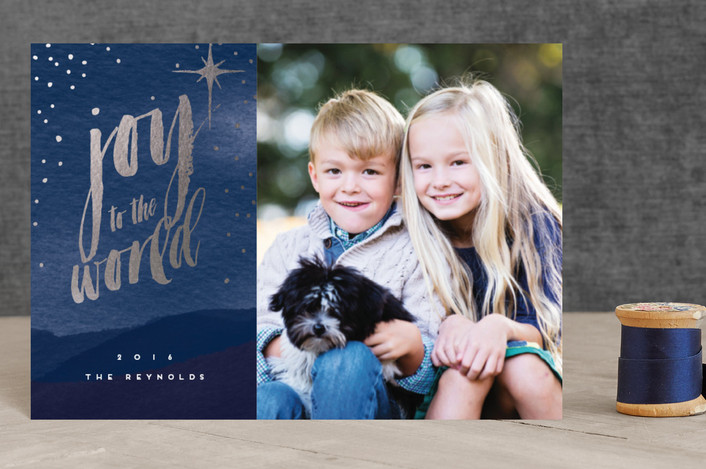 """""""Night Sky"""" - Holiday Petite Cards in Twilight by Milk and Marrow."""
