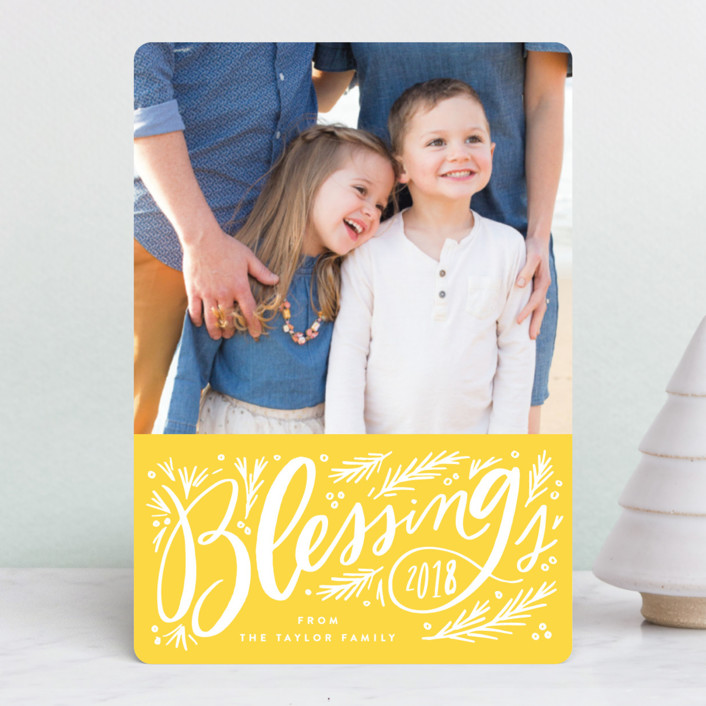 """""""Big Blessing Script"""" - Holiday Petite Cards in Candy Cane by Alethea and Ruth."""