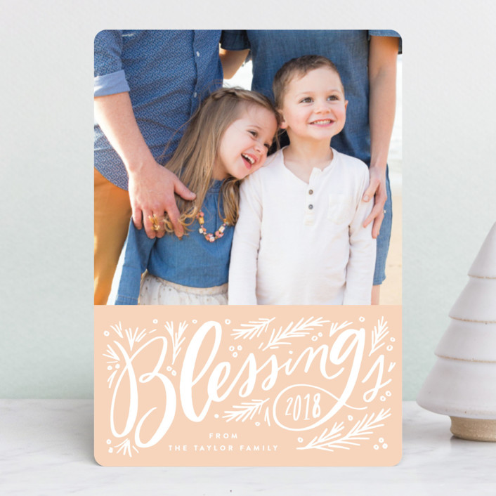 """Big Blessing Script"" - Holiday Petite Cards in Candy Cane by Alethea and Ruth."