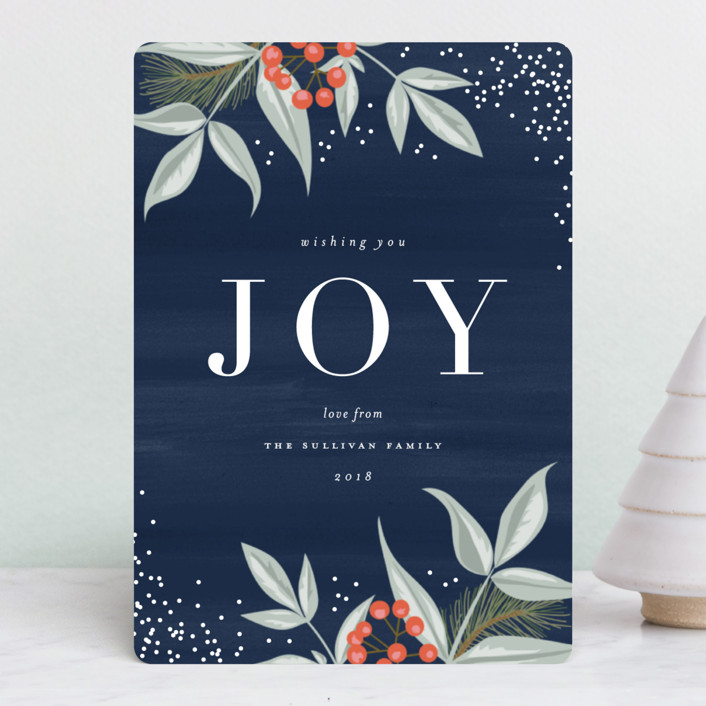 """Elegant Berries"" - Holiday Petite Cards in Midnight by Carolyn MacLaren."