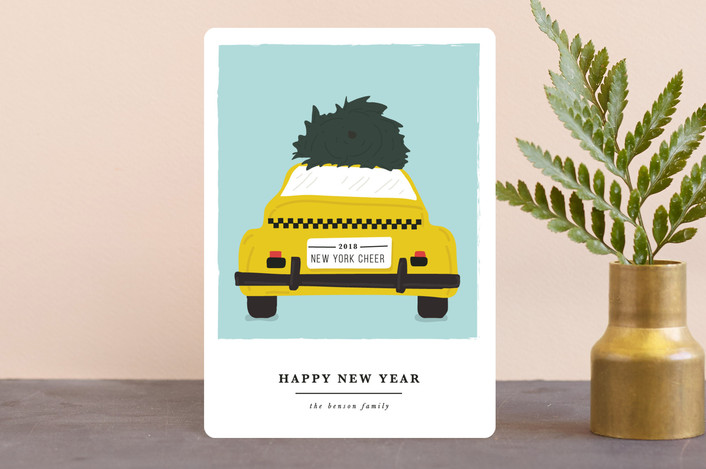 """""""new york transport cheer"""" - Holiday Petite Cards in Sky by Sweta Modi."""