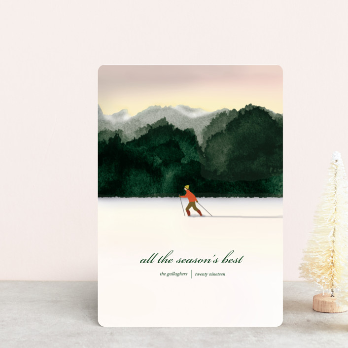 """""""Season's Best"""" - Holiday Petite Cards in Emerald by Shannon."""