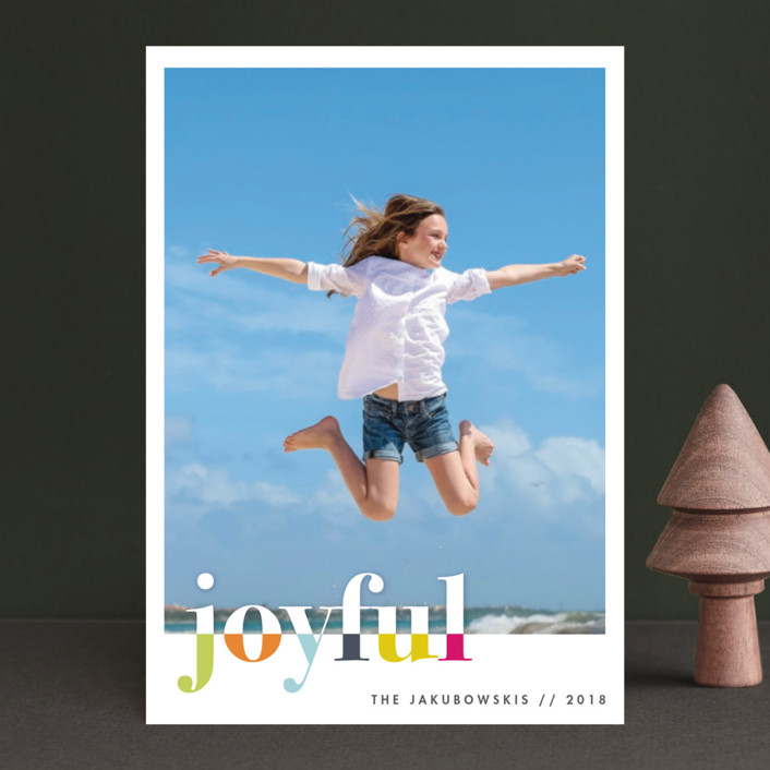 """""""bountiful joy"""" - Modern Holiday Petite Cards in Fete by Snow and Ivy."""