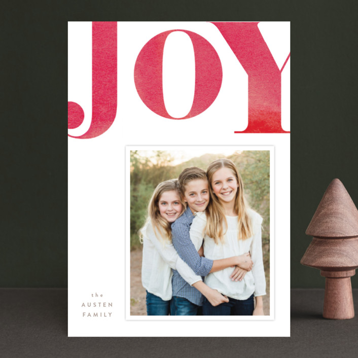 """""""Statement Joy"""" - Holiday Petite Cards in Red velvet by kelli hall."""