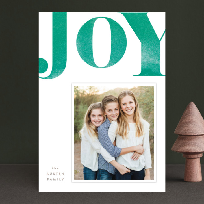 """Statement Joy"" - Holiday Petite Cards in Red velvet by kelli hall."