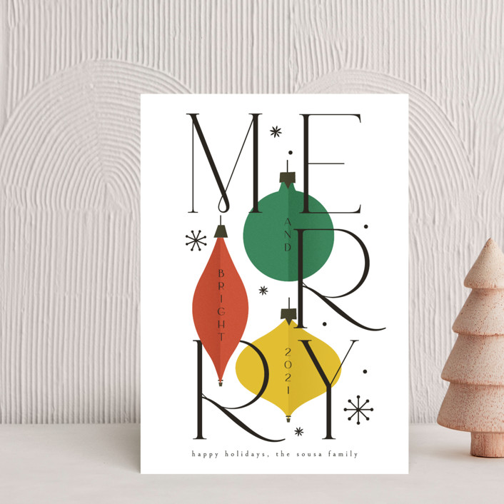 """""""Merry&Bright"""" - Holiday Petite Cards in Snow by Ana de Sousa."""