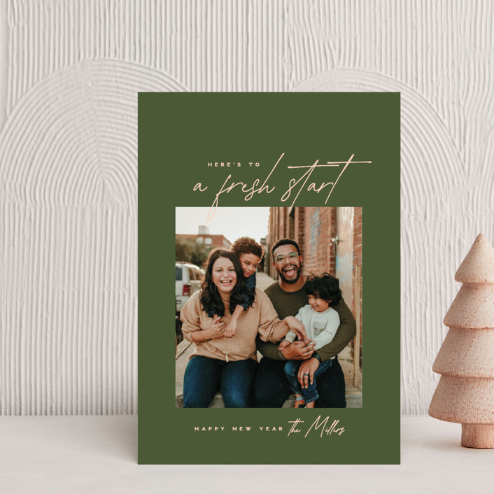 """""""Fresh Start"""" - Holiday Petite Cards in Olive by Owl and Toad."""