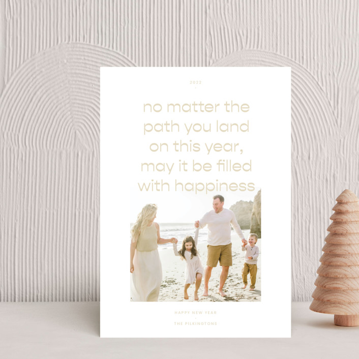 """""""Paths"""" - Holiday Petite Cards in Sand by Blustery August."""