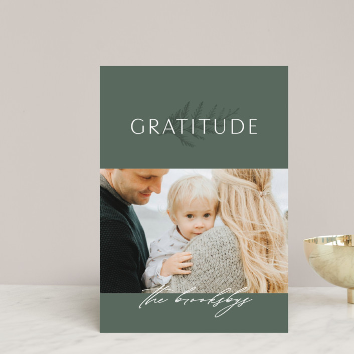 """""""Gratitude"""" - Holiday Petite Cards in Evergreen by Erin L. Wilson."""