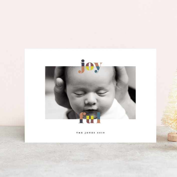 """color-block joyful"" - Holiday Petite Cards in Classic by Faith Dorn."