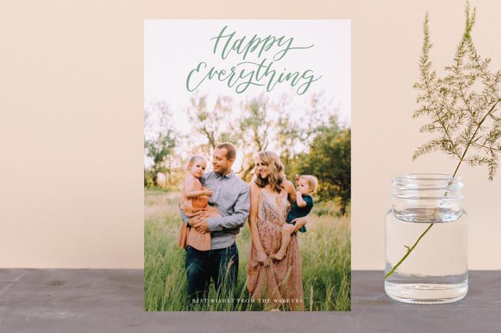 """""""Simple Script"""" - Holiday Petite Cards in Pine by Grace Kreinbrink."""