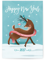 Holiday Deer by Claudia Valenzuela