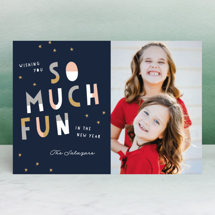 """Oh What Fun!"" - Modern Holiday Petite Cards in Faux by Pixel and Hank."