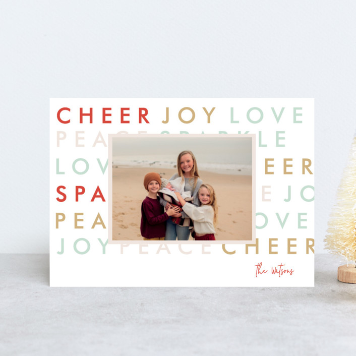 """Modern Type"" - Holiday Petite Cards in Pastel by Bethan."