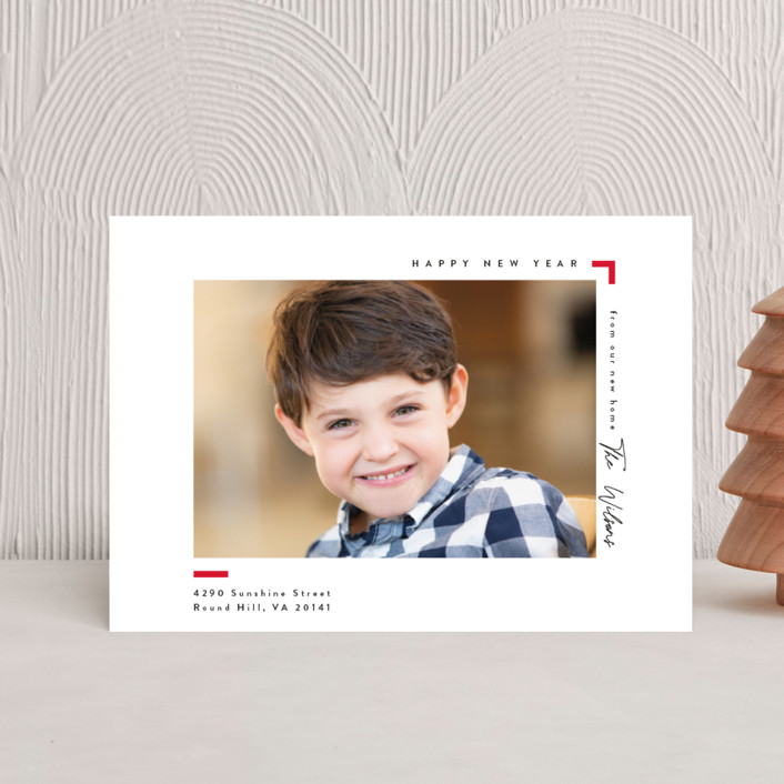 """""""Moving"""" - Holiday Petite Cards in Cardinal by Owl and Toad."""