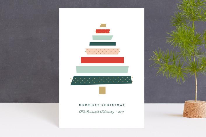 """""""Paper Tree"""" - Holiday Petite Cards in Christmas Tree by Erica Krystek."""