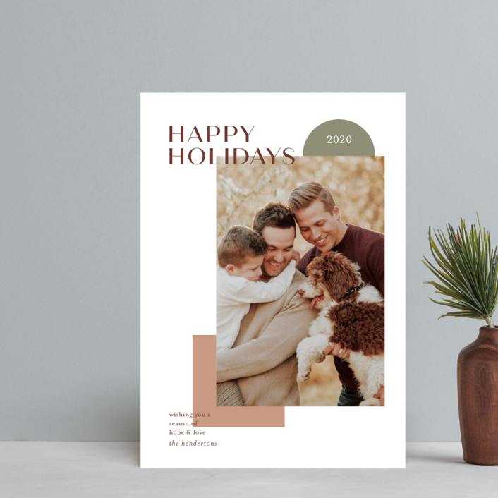 """""""winter sunrise"""" - Modern Holiday Petite Cards in Almond by Aspacia Kusulas."""