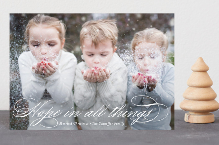 """Hopeful"" - Holiday Petite Cards in Snow by Jessica Williams."