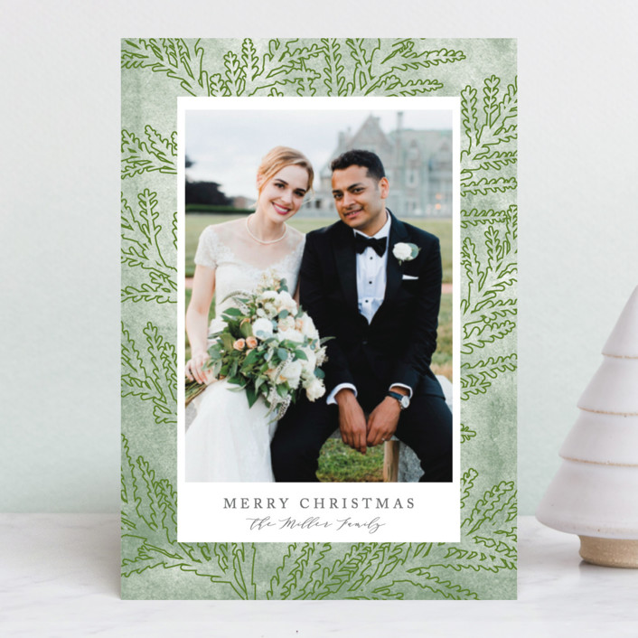 """""""First Holiday"""" - Holiday Petite Cards in Cedar by Owl and Toad."""
