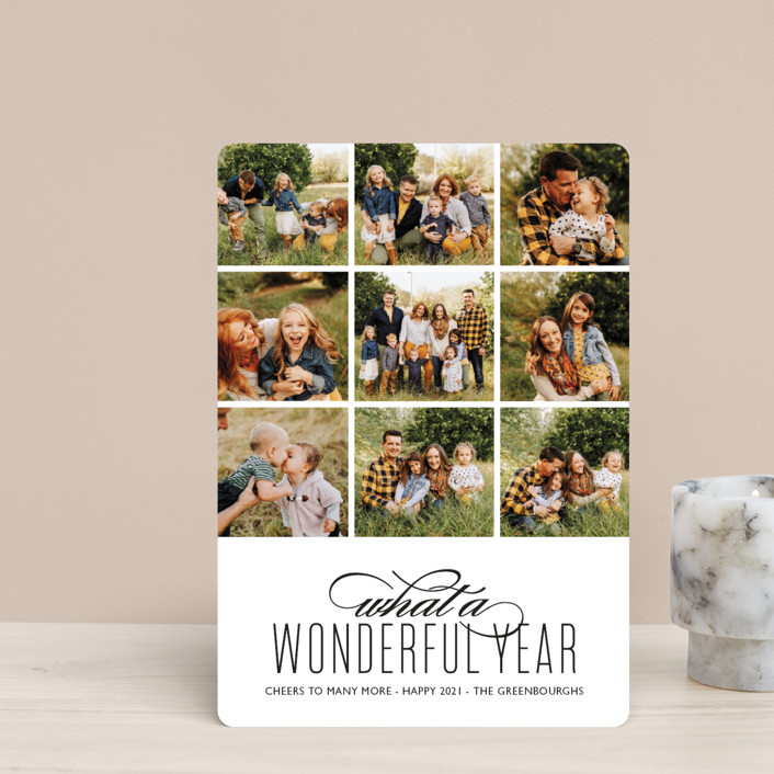 """A Wonderful Year"" - Holiday Petite Cards in Tuxedo by Kaydi Bishop."