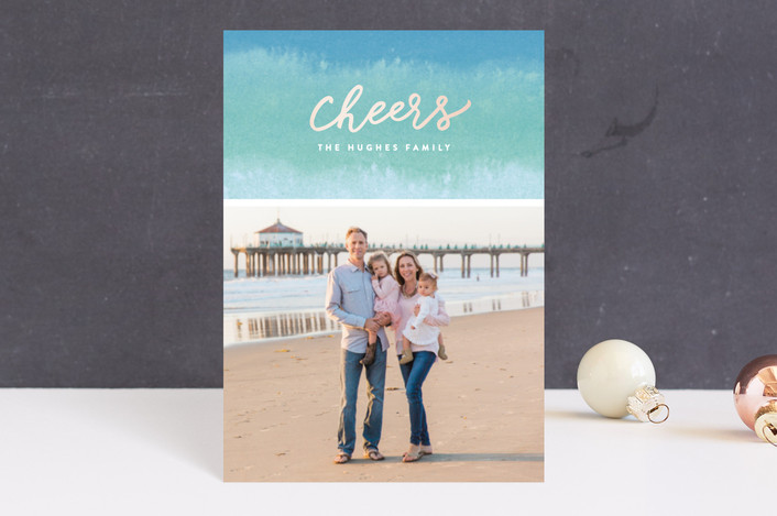 """Dip Dyed Wishes"" - Holiday Petite Cards in Aqua by Hooray Creative."