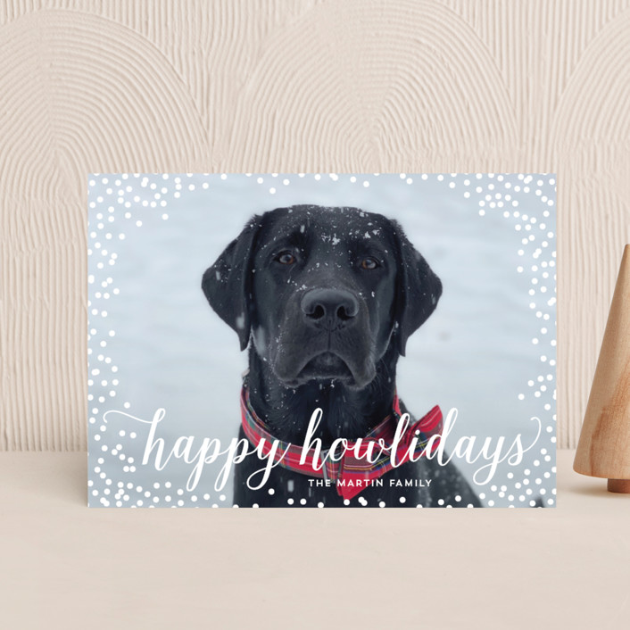 """Confetti Howlidays"" - Holiday Petite Cards in Snow by Nicole Barreto."