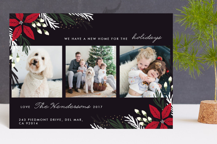 """""""Merry Home"""" - Holiday Petite Cards in Onyx by Oma N. Ramkhelawan."""
