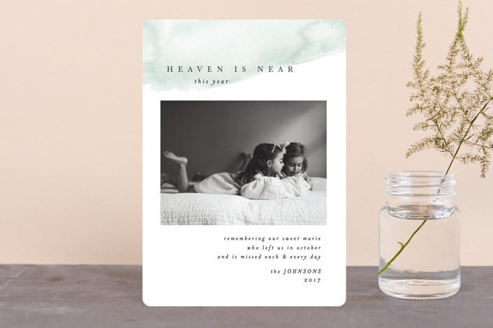 """""""Heaven is Near"""" - Holiday Petite Cards in Mint by Erin L. Wilson."""
