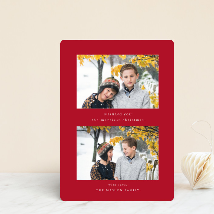 """""""Foreword"""" - Holiday Petite Cards in Poinsettia by Jennifer Lew."""