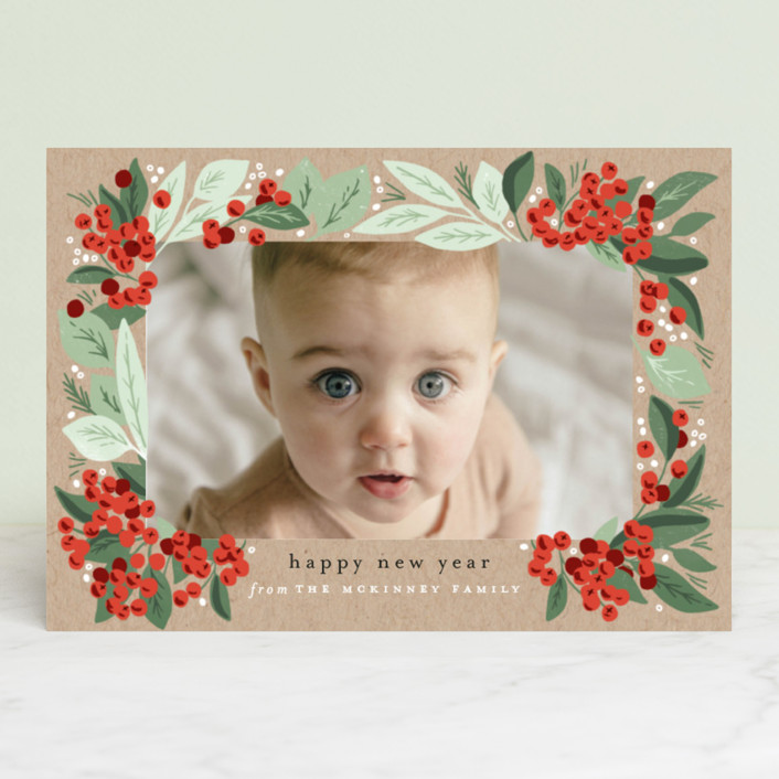 """Berry Bunches"" - Holiday Petite Cards in Holly Berry by Alethea and Ruth."