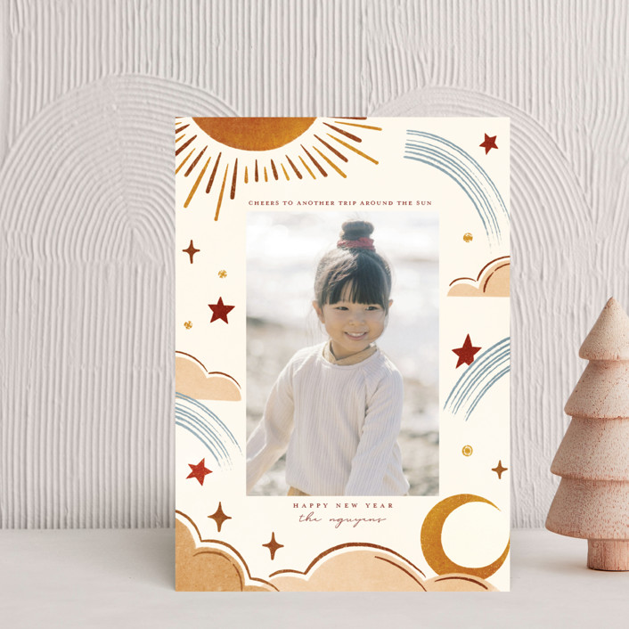 """""""Another Trip"""" - Bohemian Holiday Petite Cards in Spice by Vivian Yiwing."""