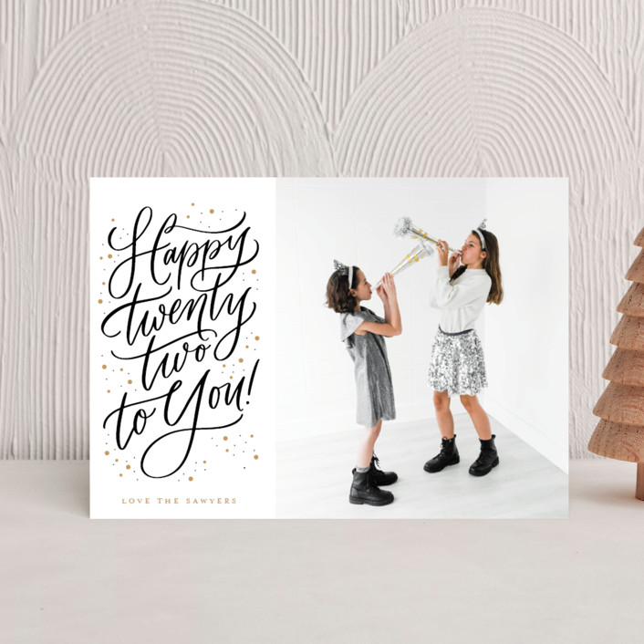 """""""Happy 22"""" - Holiday Petite Cards in Sparkle by Erin German."""