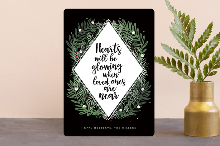 """""""Loved Ones"""" - Holiday Petite Cards in Noir by Bonjour Berry."""