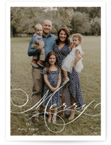 This is a white petite holiday card by Brandy Folse called Very Merry with standard printing on smooth signature in petite.