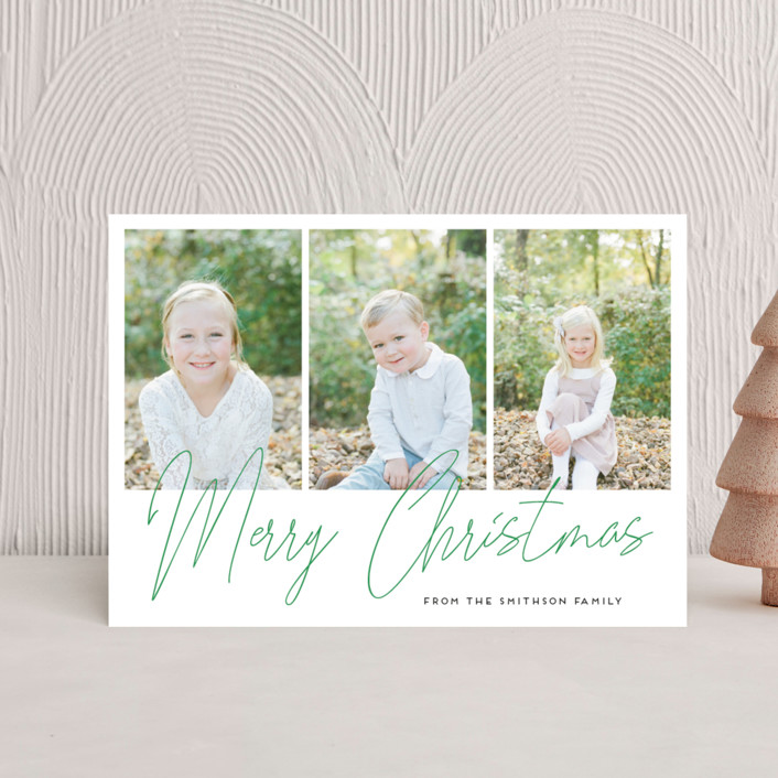 """""""hand-written holiday message"""" - Holiday Petite Cards in Pine by Alexandra Dzh."""