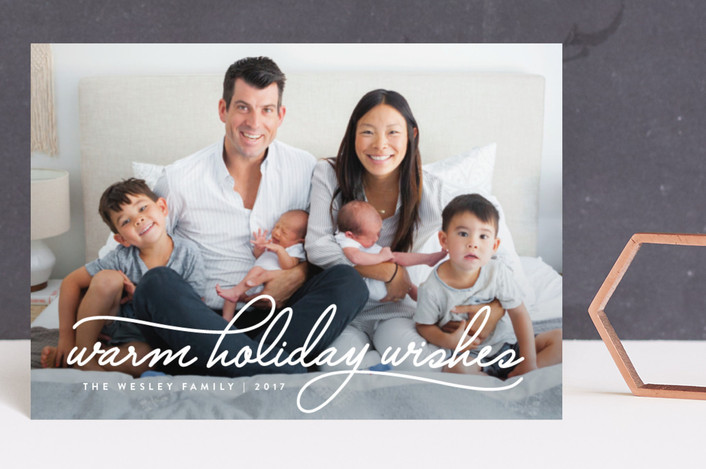 """""""Warm Holiday Wishes"""" - Holiday Petite Cards in Icing by Design Lotus."""