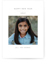 This is a grey petite holiday card by Roopali called Simple Beauty with standard printing on smooth signature in petite.