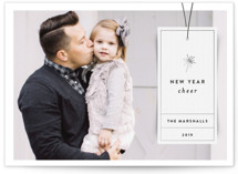 This is a black petite holiday card by Jody Wody called Simple Tag with standard printing on smooth signature in petite.
