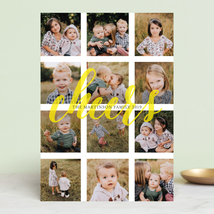 """""""Merry Bit of Sunshine"""" - Modern Holiday Petite Cards in Sunshine by Melissa Casey."""
